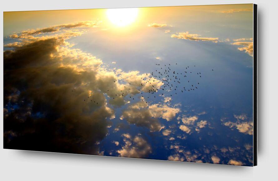 Vol au dessus du soleil de Pierre Gaultier Zoom Alu Dibond Image