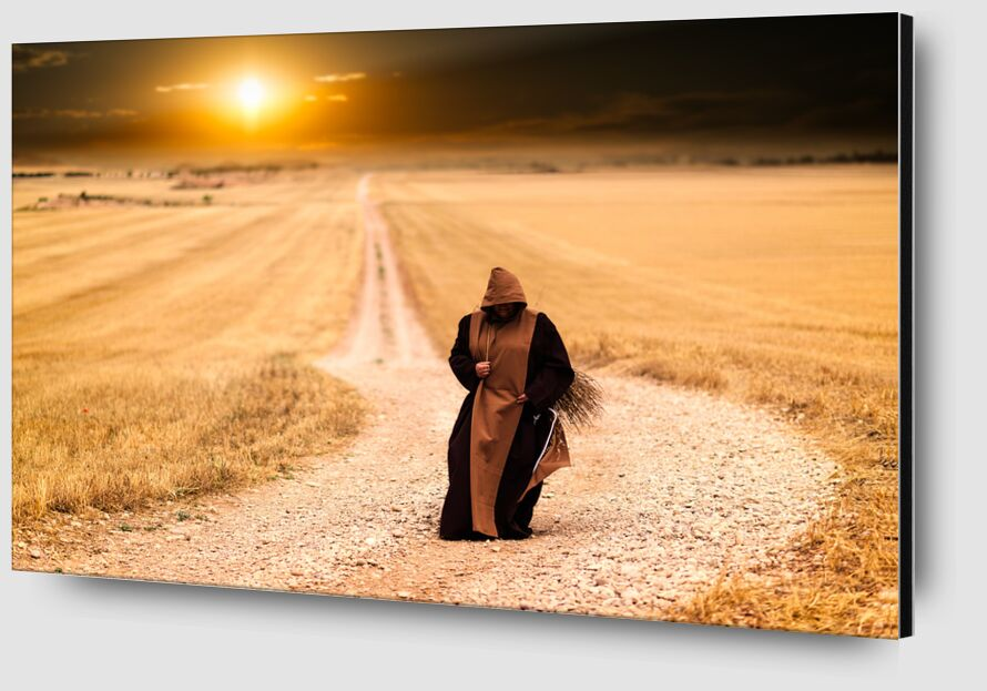The walk of the monk from Pierre Gaultier Zoom Alu Dibond Image