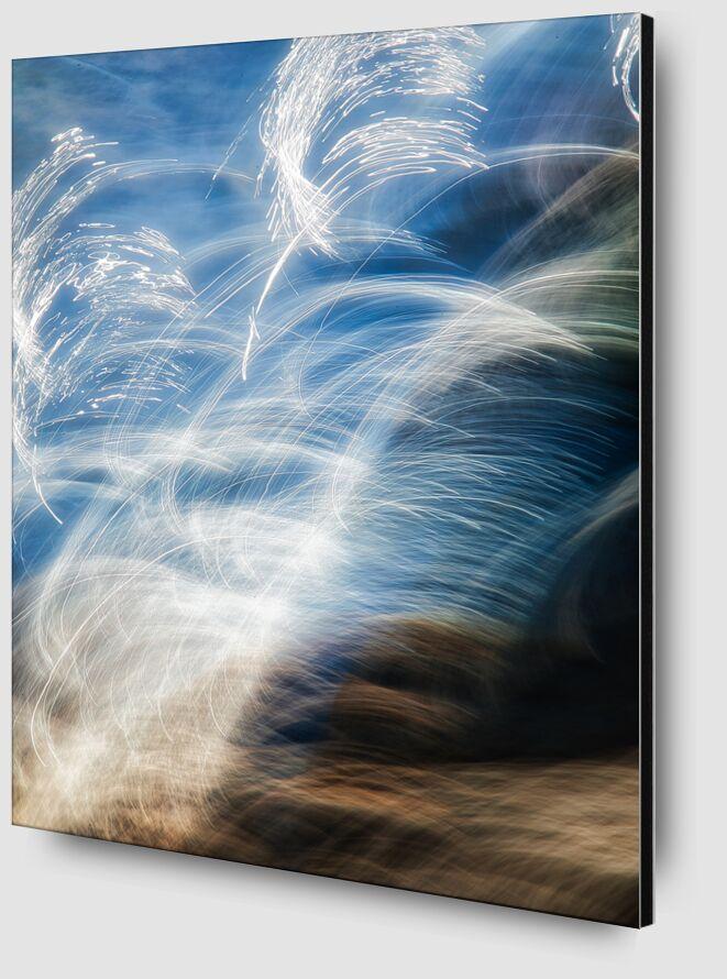 Les cristaux de sel de Céline Pivoine Eyes Zoom Alu Dibond Image