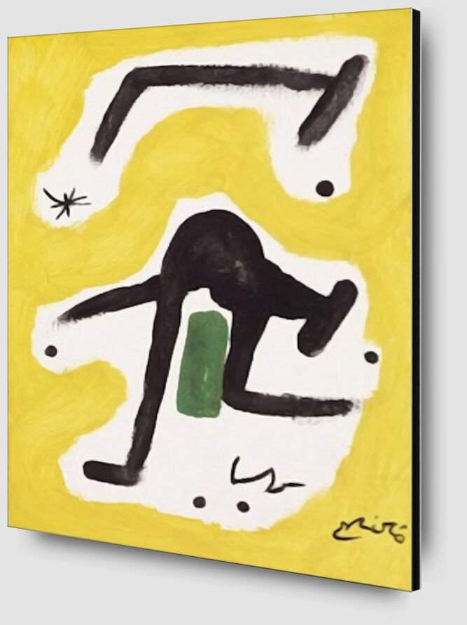 Femme, Oiseaux, Etoile, 1978 - Joan Miró de AUX BEAUX-ARTS Zoom Alu Dibond Image