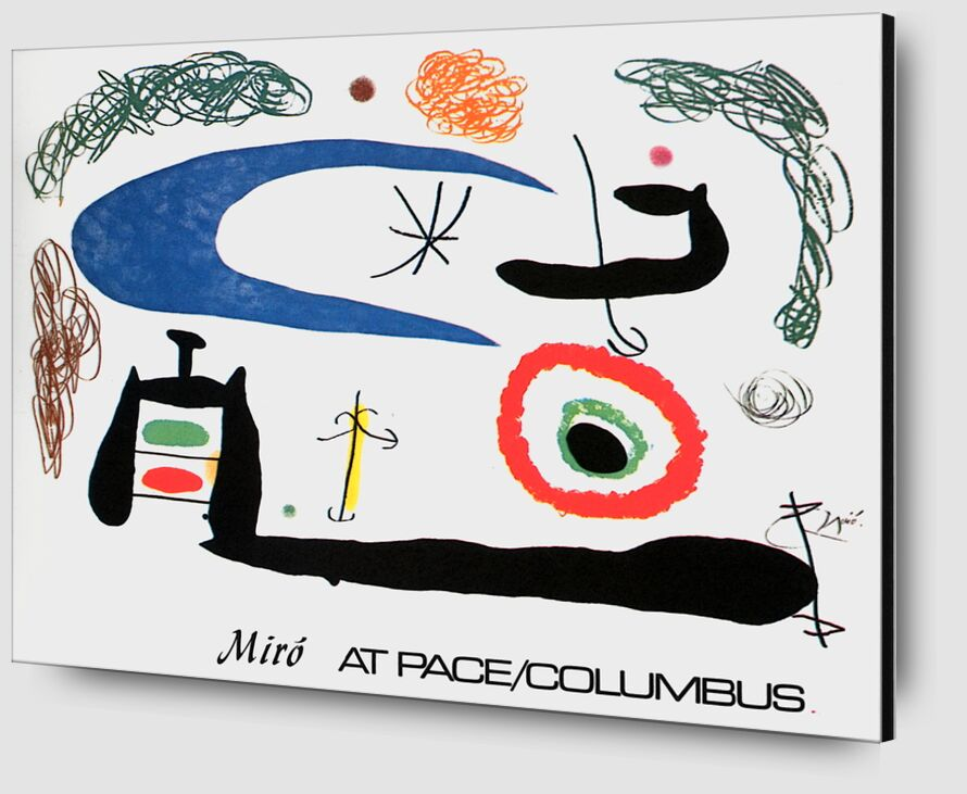 Sleeping under the Moon - Joan Miró from AUX BEAUX-ARTS Zoom Alu Dibond Image