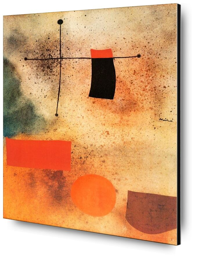 Abstract, c.1935 - Joan Miró from AUX BEAUX-ARTS, Prodi Art, Joan Miró, abstract, drawing, cross, beach