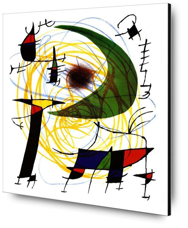 Green Moon - Joan Miró from AUX BEAUX-ARTS, Prodi Art, Joan Miró, painting, abstract, Moon, green, crayons