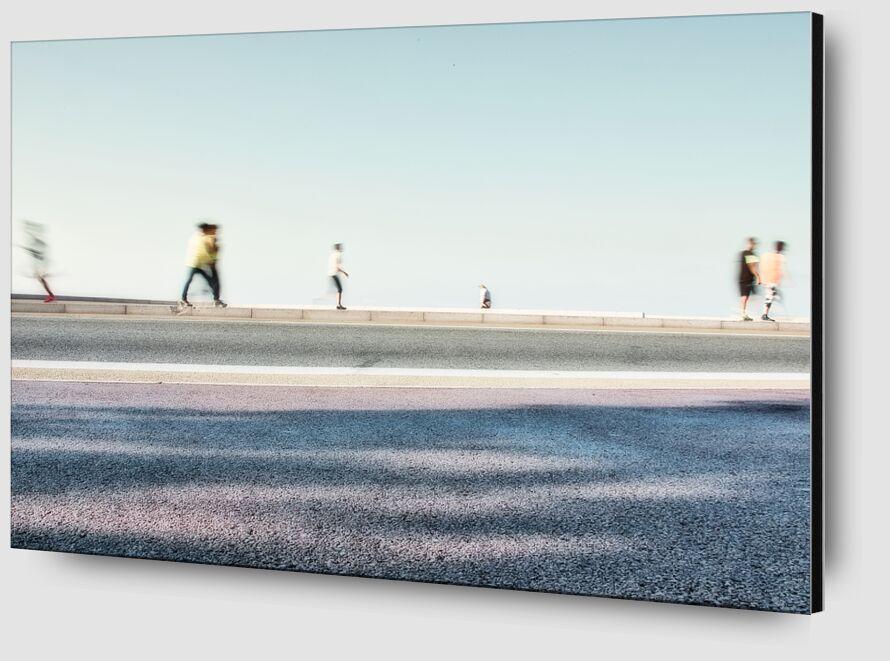 Les joggeurs de Céline Pivoine Eyes Zoom Alu Dibond Image