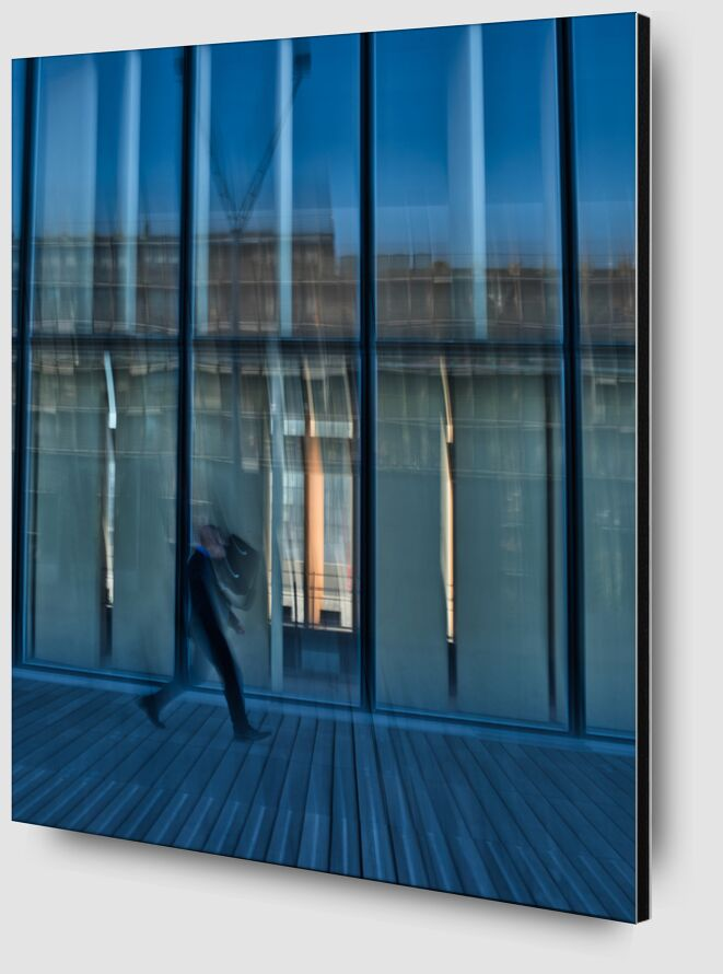Le passant à la BNF de Céline Pivoine Eyes Zoom Alu Dibond Image