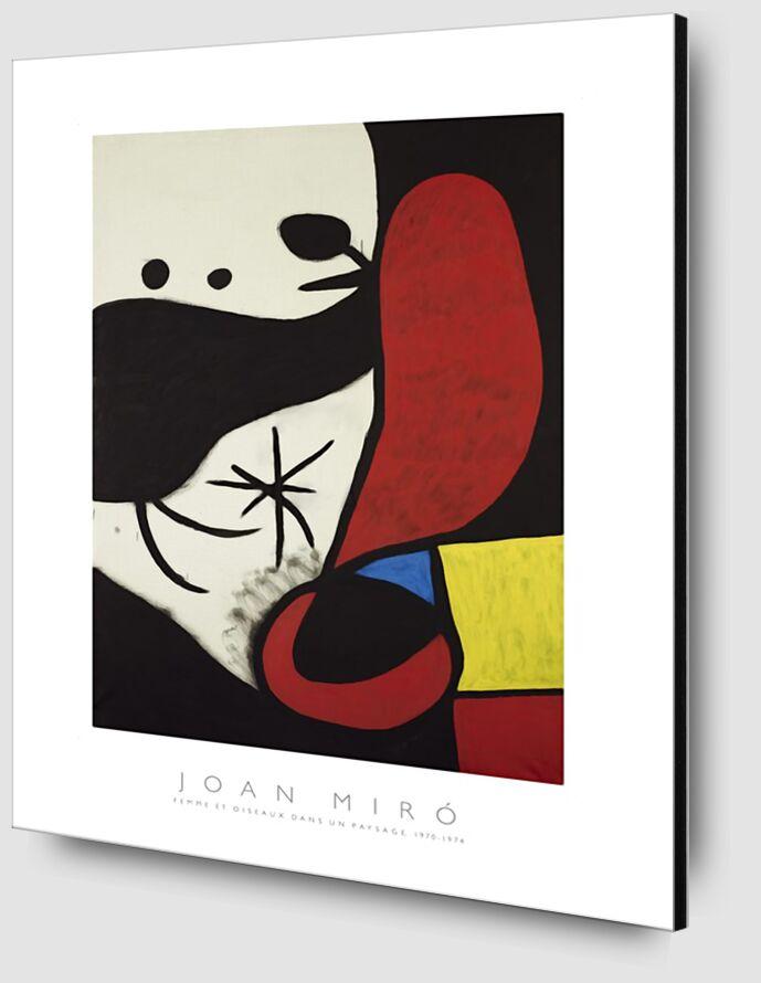 Femme et Oiseaux Dans un Paysage - Joan Miró de AUX BEAUX-ARTS Zoom Alu Dibond Image