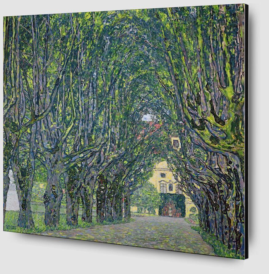 Avenue in the Park of Kammer Castle, 1912 - KLIMT desde AUX BEAUX-ARTS Zoom Alu Dibond Image