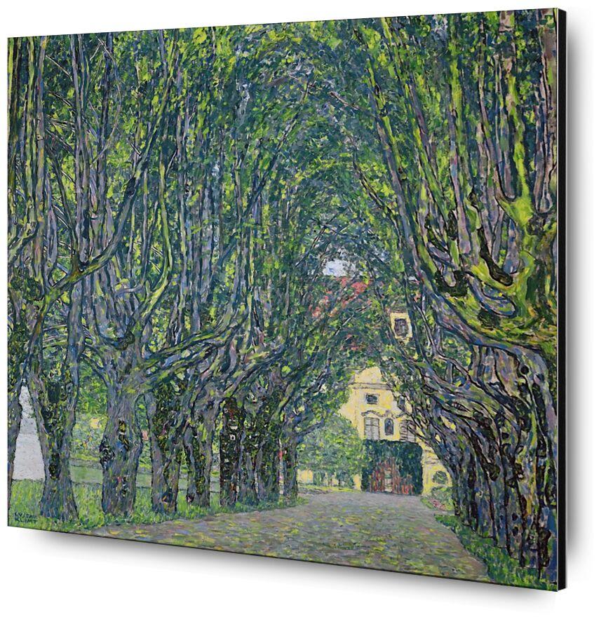 Avenue in the Park of Kammer Castle, 1912 - KLIMT desde AUX BEAUX-ARTS, Prodi Art, KLIMT, pintura, verde, árboles, casa, camino, callejón