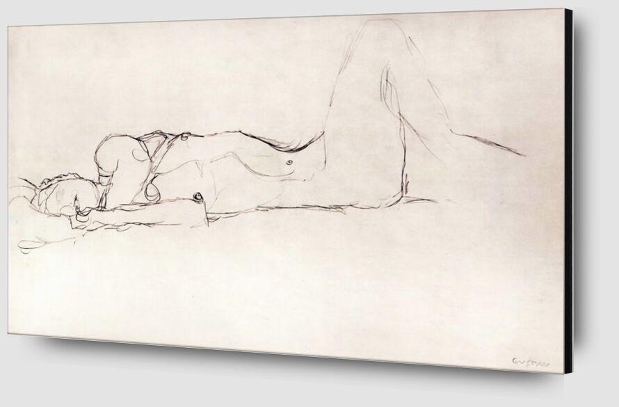 Nude Woman in Bed - KLIMT from AUX BEAUX-ARTS Zoom Alu Dibond Image