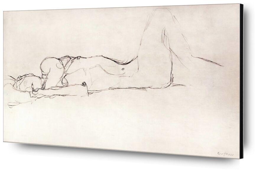 Nude Woman in Bed - KLIMT from AUX BEAUX-ARTS, Prodi Art, KLIMT, pencil drawing, woman, nude, naked woman, sketch