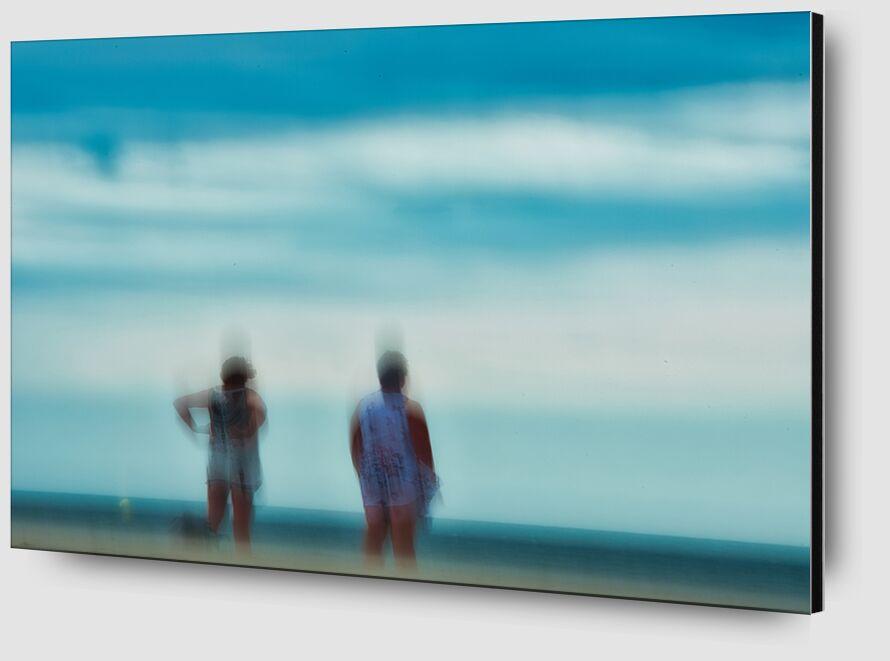 Femmes sur la plage de Céline Pivoine Eyes Zoom Alu Dibond Image