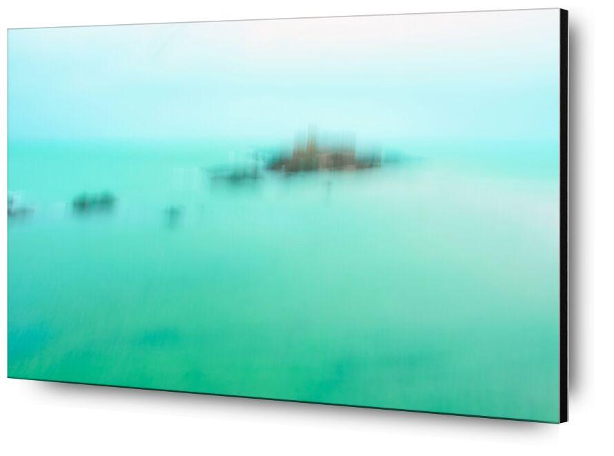 Le Fort National de Saint-Malo en ICM de Céline Pivoine Eyes, Prodi Art, Photographie abstraite, fort, patrimoine, architecture, mer, paysage, vert, Fort national de Saint-Malo, ICM, Mouvement intentionnel de la caméra, flou artistique, art abstrait