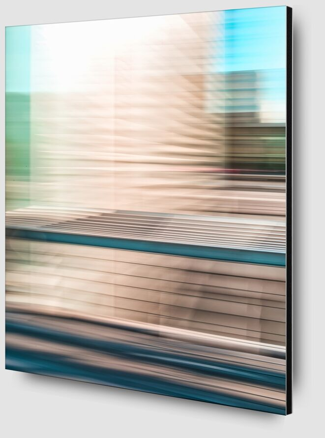 Une tour de la BNF de Céline Pivoine Eyes Zoom Alu Dibond Image
