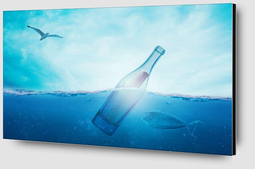 A bottle in the sea from Pierre Gaultier Zoom Alu Dibond Image