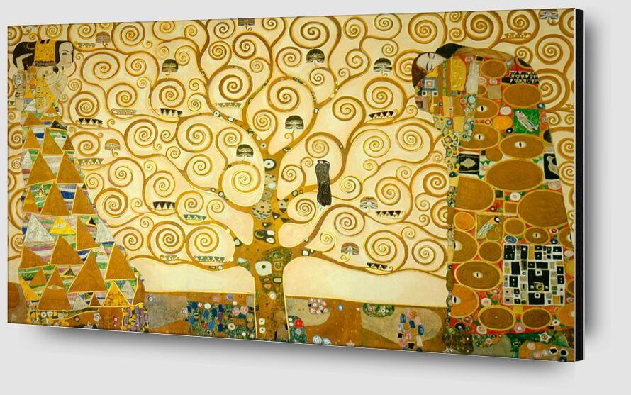 """Détail de la """"Frise de Stoclet"""" - Gustav Klimt de AUX BEAUX-ARTS Zoom Alu Dibond Image"""
