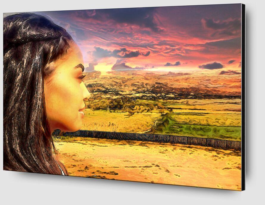 Sun of Africa from Adam da Silva Zoom Alu Dibond Image