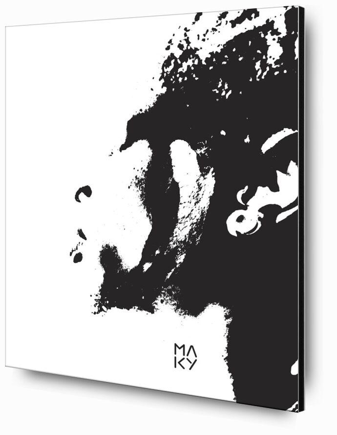 気2.3 from Maky Art, Prodi Art, visual art, black-and-white, portrait, texture