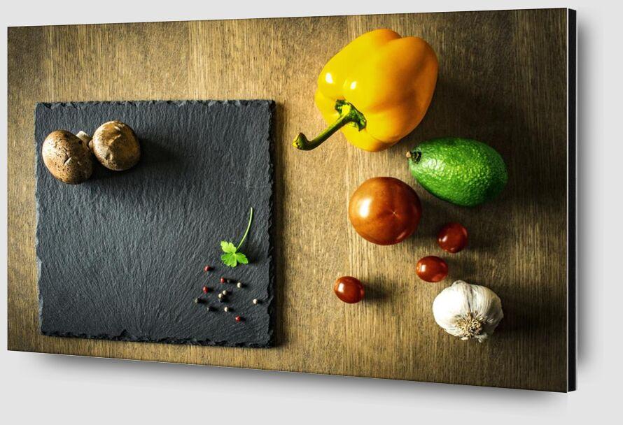 Plan de travail & légumes de Pierre Gaultier Zoom Alu Dibond Image