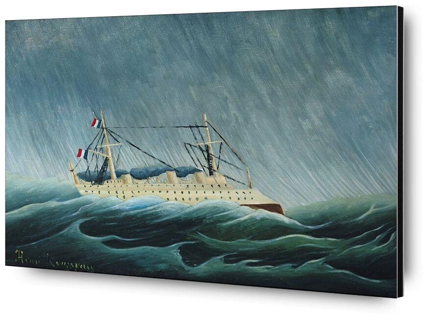 Le Navire dans la tempête de AUX BEAUX-ARTS, Prodi Art, navire, bateau, Rousseau, mer, tempête, pluie, ouragan