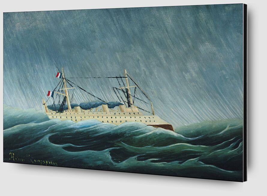 Le Navire dans la tempête de AUX BEAUX-ARTS Zoom Alu Dibond Image