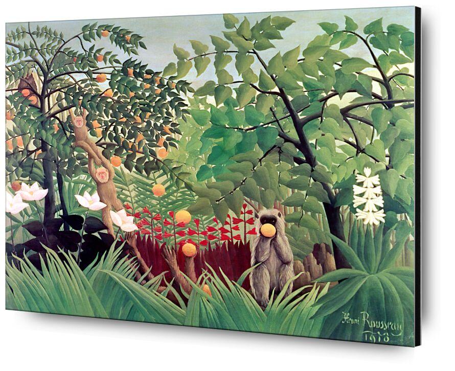 Exotic Landscape from Aux Beaux-Arts, Prodi Art, monkeys, forests, children, tree, wild, painting, rousseau