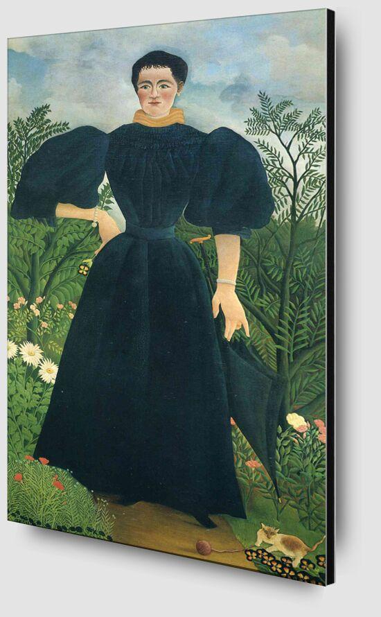 Portrait of a woman desde AUX BEAUX-ARTS Zoom Alu Dibond Image