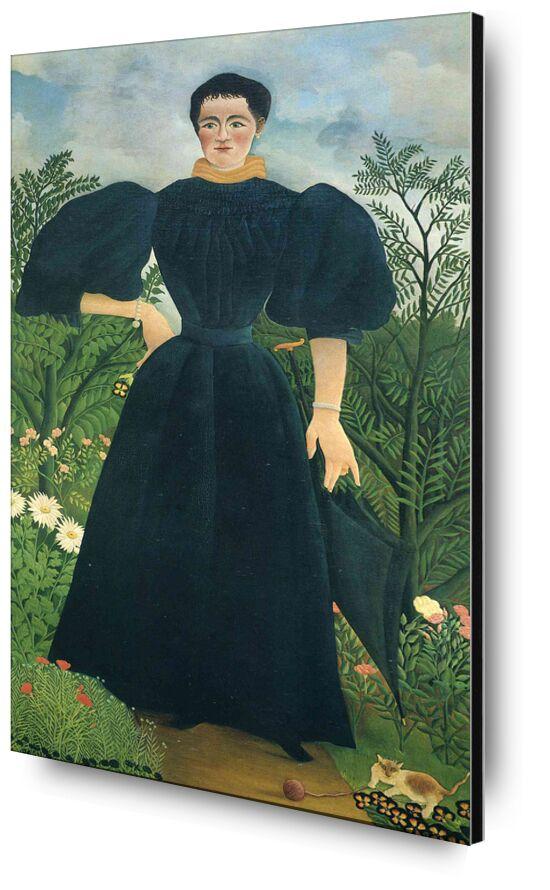 Portrait of a woman desde AUX BEAUX-ARTS, Prodi Art, bosque, salvaje, naturaleza, vestido, retrato, mujer, Rousseau