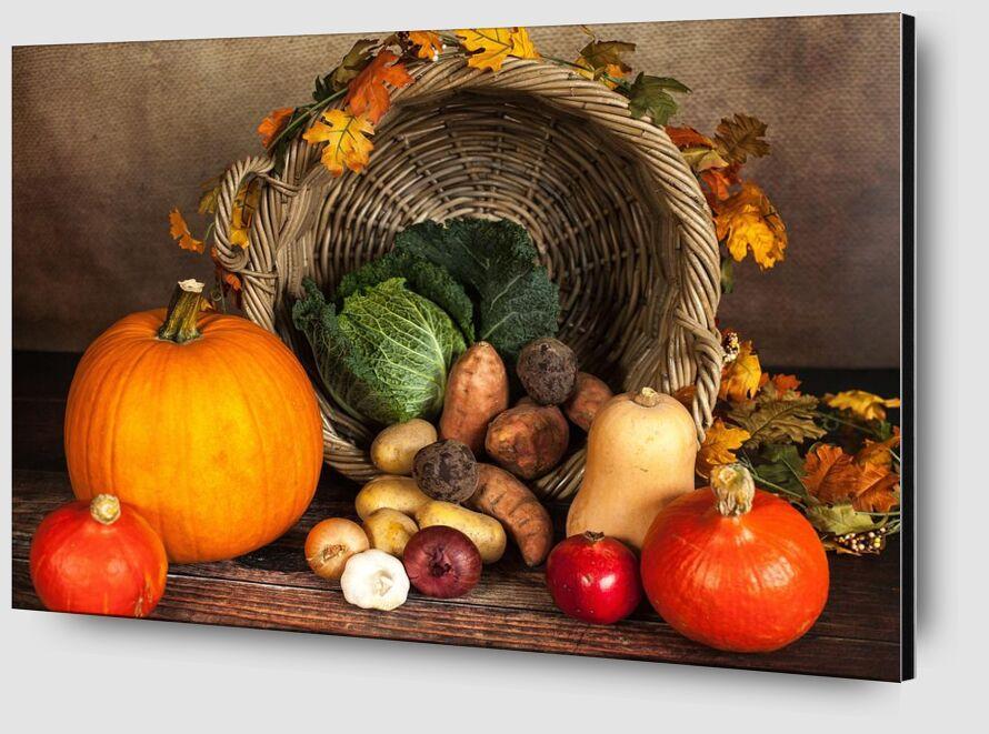 Basket of vegetables from Pierre Gaultier Zoom Alu Dibond Image