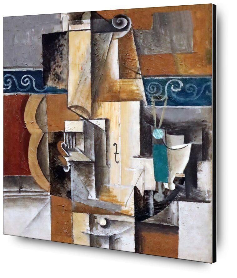 Violon et guitare de Aux Beaux-Arts, Prodi Art, peinture, picasso, violon, guitare, abstrait, cubisme