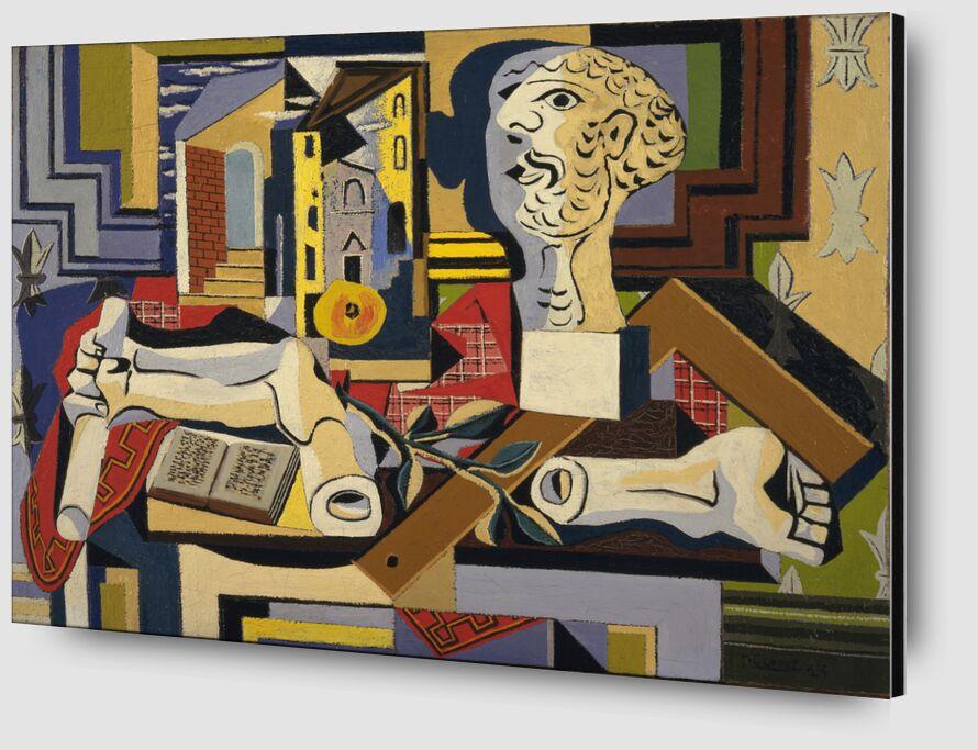 Studio avec tête en plâtre de Aux Beaux-Arts Zoom Alu Dibond Image