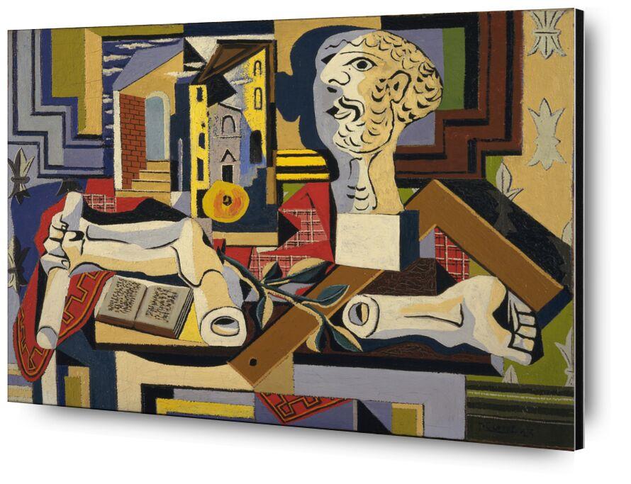 Studio with Plaster Head desde AUX BEAUX-ARTS, Prodi Art, picasso, pintura, cubismo, cabeza, yeso