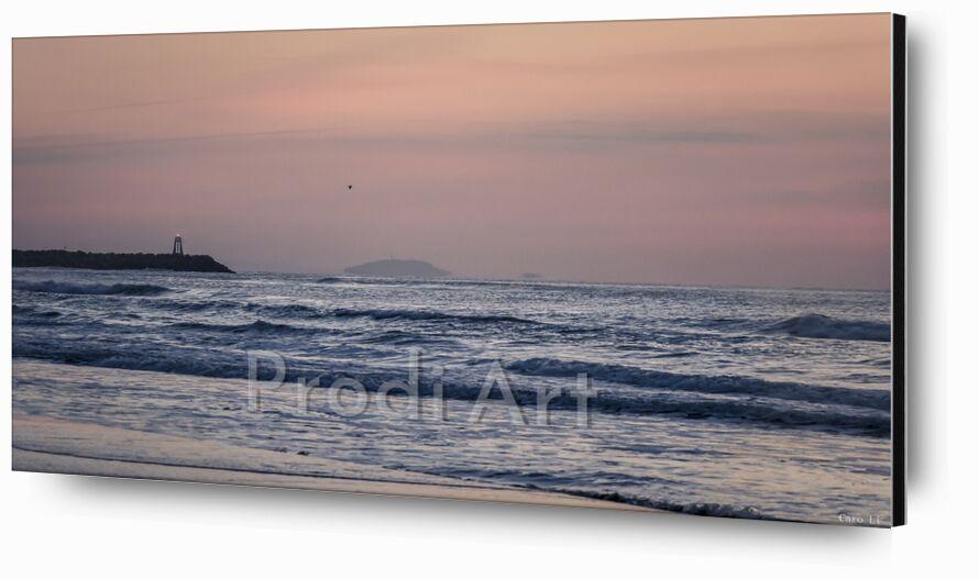 Aurore de Caro Li, Prodi Art, mer, paysage, aurore, phare, plage, levé de soleil