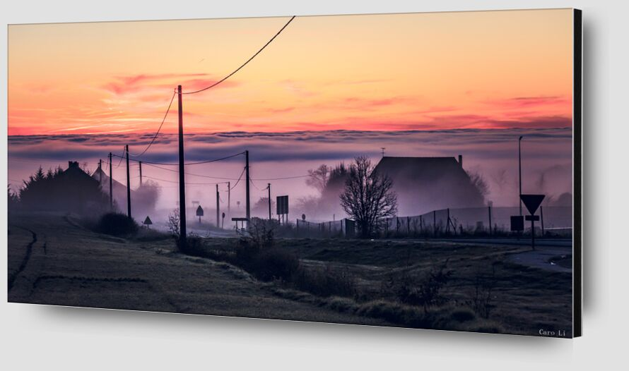 Ghost City from Caro Li Zoom Alu Dibond Image