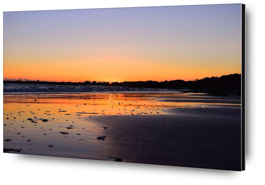 Chaleur d'été from Loïse Raoult, Prodi Art, sunset, beach, Sun, sea, waves, ocean, reflection, summer, heat