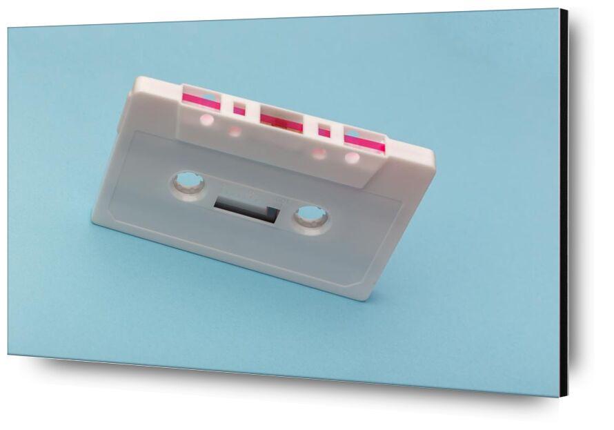 Tape from Aliss ART, Prodi Art, style  tape, recording, plastic, cassette, blue background, white, raw, technology, sound, retro, record, pink, music, equipment, device, classic, audio