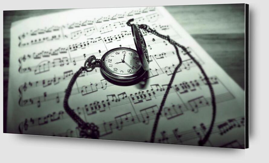 Temps musical de Aliss ART Zoom Alu Dibond Image