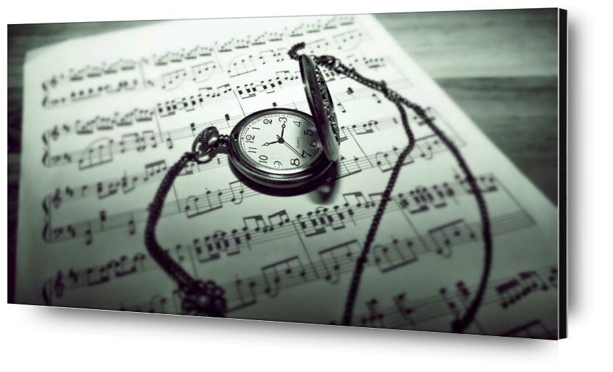 وقت الموسيقية from Aliss ART, Prodi Art, timer, stainless steel, musical notes, musical composition, music sheet, guidance, royalty free images, raw, time, still life, pocket watch, paper, focus, composing, classic, black-and-white, antique