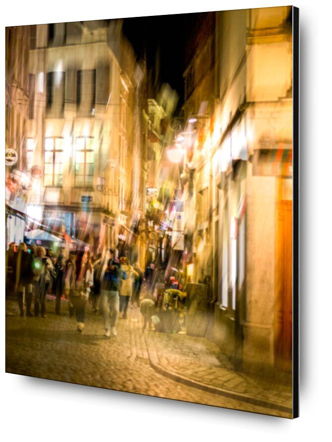 Vie nocturne de Pierre Rousseau, Prodi Art, Belgique, Bruxelles, ville, capital, nuit, nocturne, flou