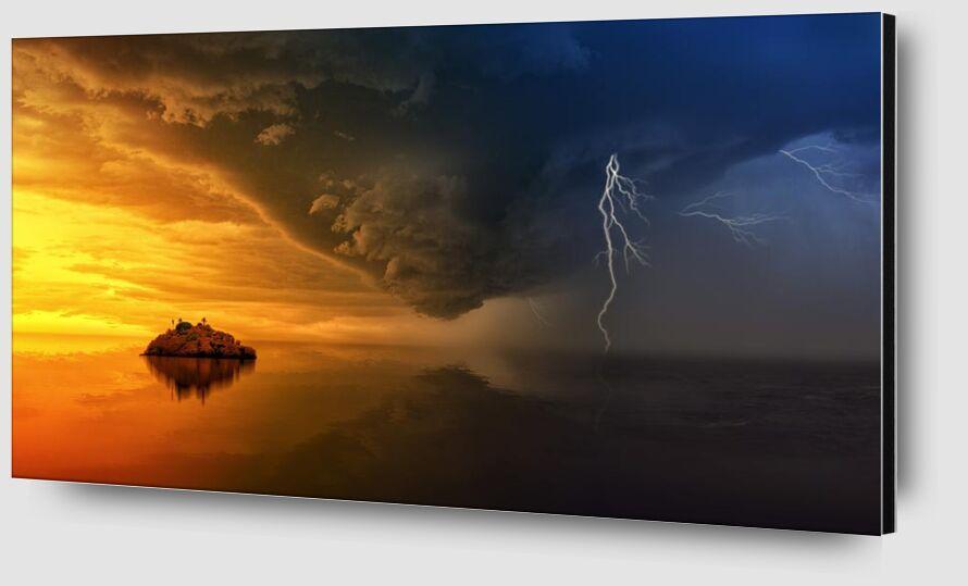Tempête de Aliss ART Zoom Alu Dibond Image