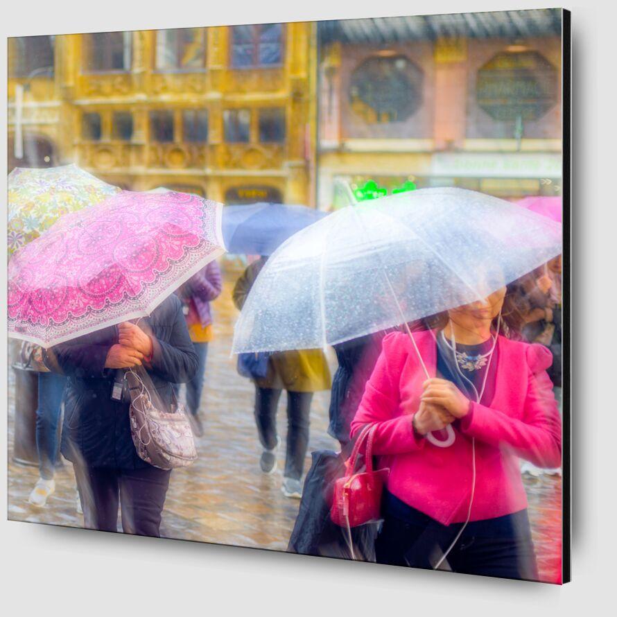 Tourisme sous la pluie de Pierre Rousseau Zoom Alu Dibond Image