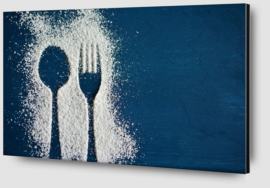 Salt and cutlery from Pierre Gaultier Zoom Alu Dibond Image
