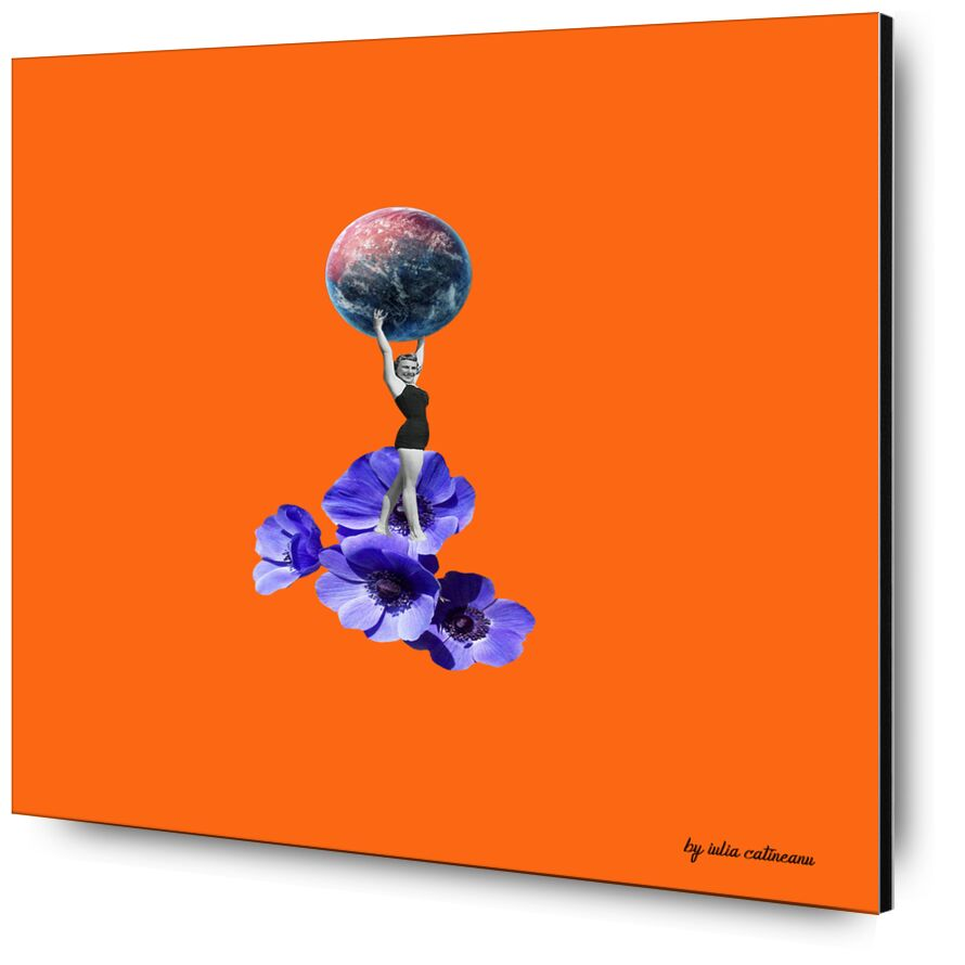 Who run the world de IULIA CATINEANU, Prodi Art, planète, art, pop Art, fleurs, féminisme, femme, surrealisme, arts visuels
