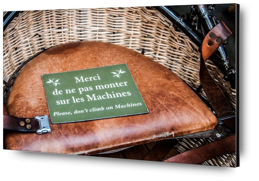 Merci de ne pas monter sur les Machines de Marie Guibouin, Prodi Art, avertissement, pancarte, panneau, marie guibouin, galerie, héron, nantes, machines de l'ile, art, machine