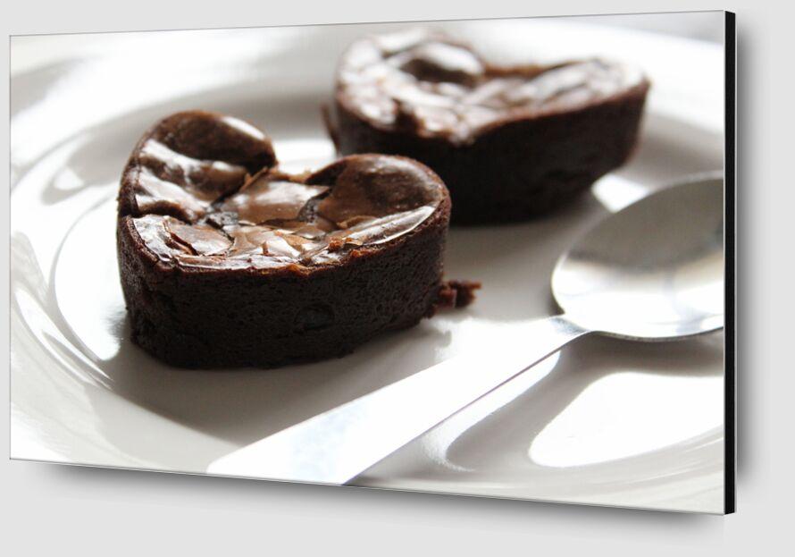 Coeur de chocolat de jenny buniet Zoom Alu Dibond Image