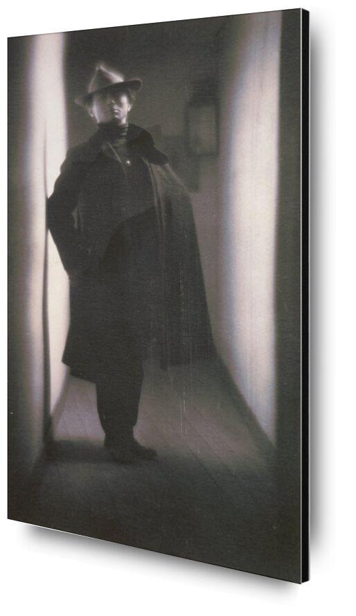 Edward Steichen by Fred Holland Day - 1901 desde AUX BEAUX-ARTS, Prodi Art, blanco y negro, casa, sombrero, foto, Edward Steichen, corredor, apartamento, foto antigua