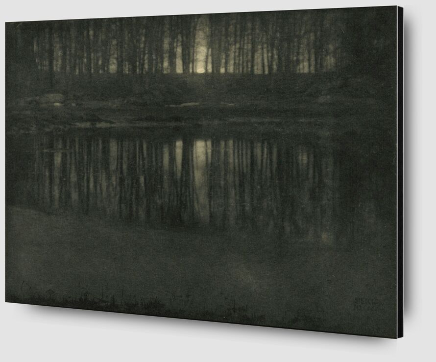 The Pond—Moonlight -Edward Steichen 1904 desde AUX BEAUX-ARTS Zoom Alu Dibond Image