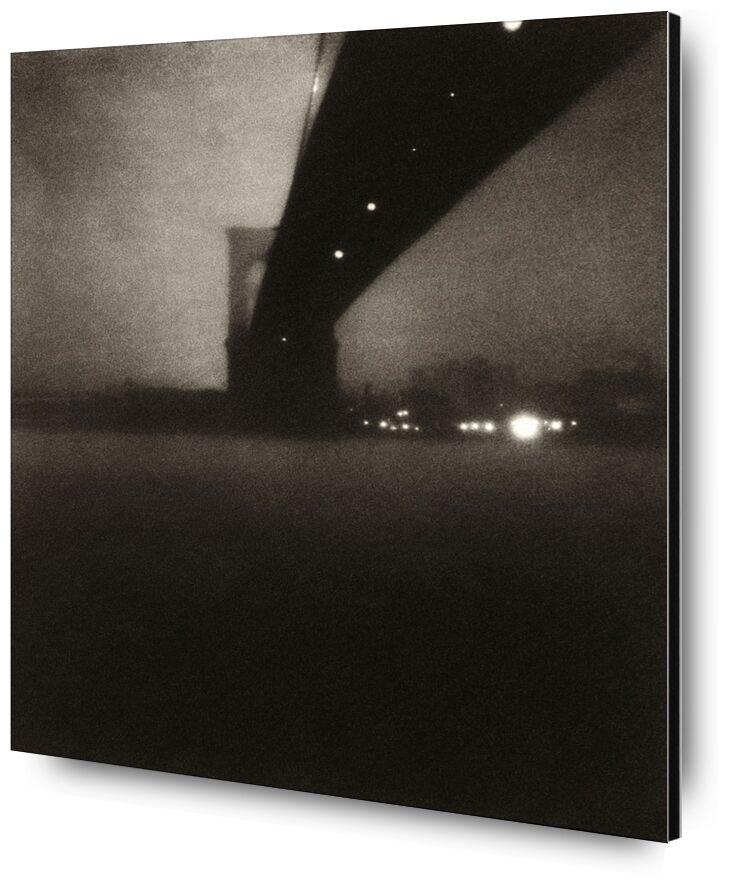 Brooklyn bridge - Edward Steichen 1903 desde AUX BEAUX-ARTS, Prodi Art, Edward Steichen, ciudad, río, blanco y negro, Brooklyn, pont de Brooklyn