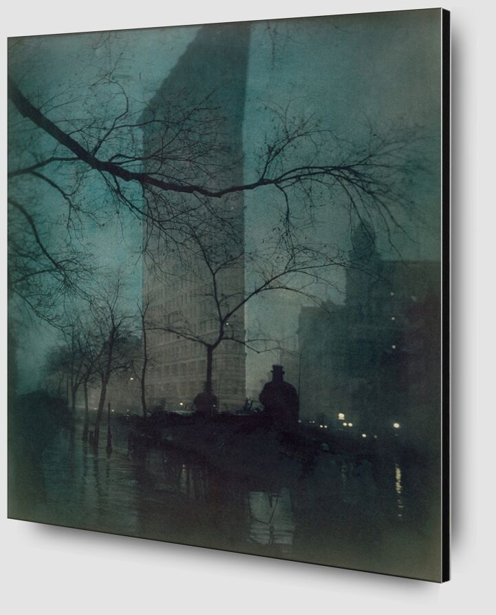 Flatiron Building, New York - Edward Steichen 1904 from AUX BEAUX-ARTS Zoom Alu Dibond Image