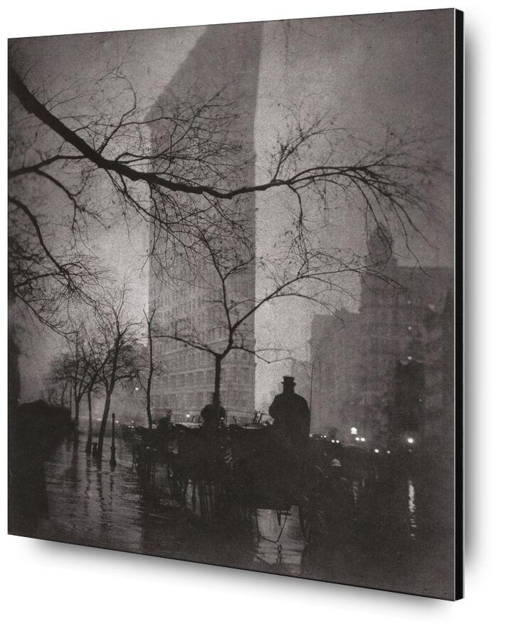 Flatiron Building, New York - Edward Steichen 1904 desde AUX BEAUX-ARTS, Prodi Art, Nueva York, edificio, edificio, Edward Steichen, edificio plano, edificio plano
