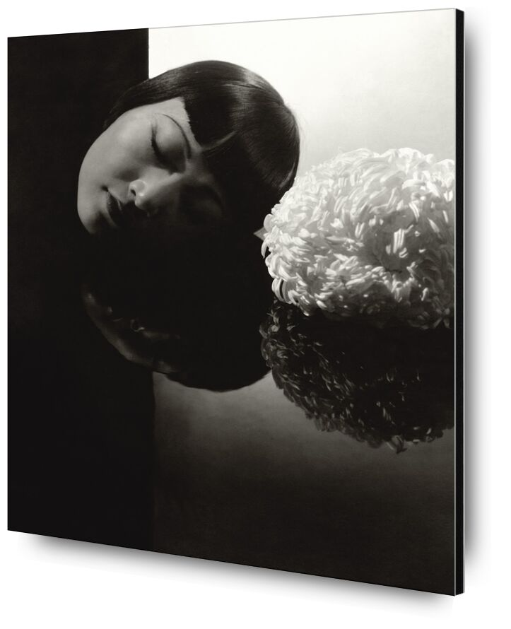 Hollywood confession  Anna May Wong - Edward Steichen 1931 from AUX BEAUX-ARTS, Prodi Art, woman, eyes, black-and-white, edward steichen, hollywood, confession